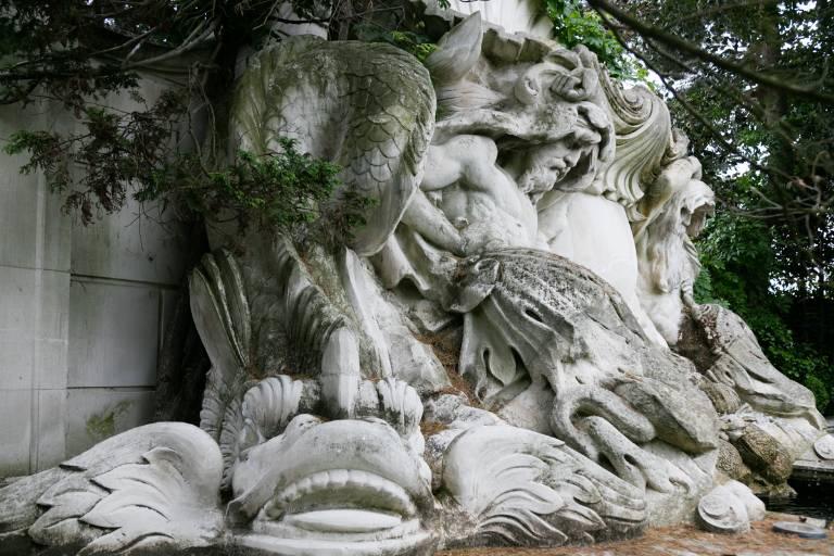 Baroque fountain (detail) limestone, 2012