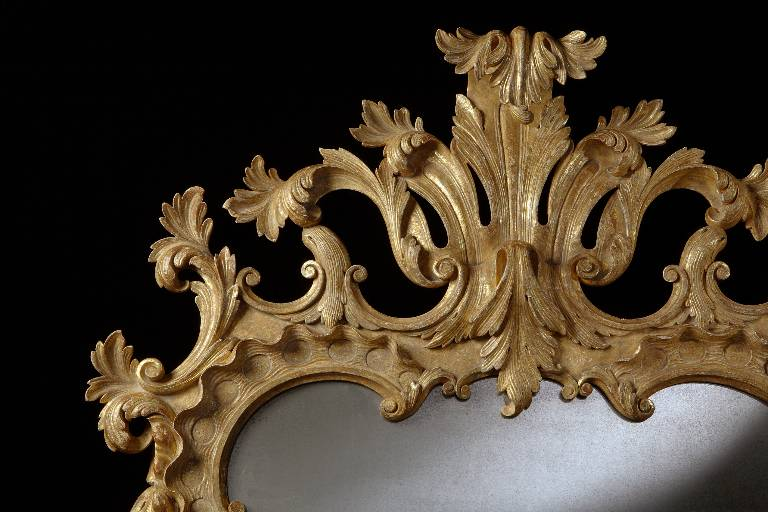 Chippendale mirror (detail) gilded timber, 2008