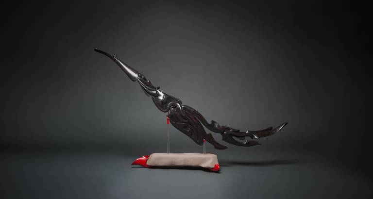 Flow a hand carved sculpture by Misti Leitz