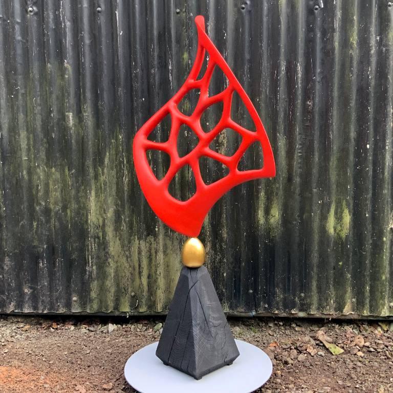 Autumn Flame a sculpture by Misti Leitz
