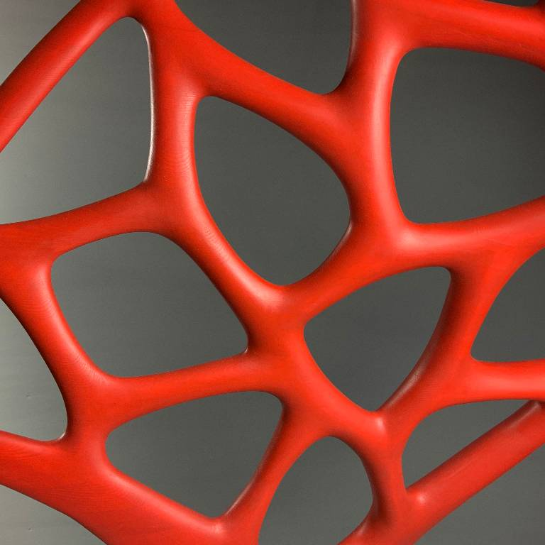 detail on the luxurious abstract sculpture by Misti Leitz