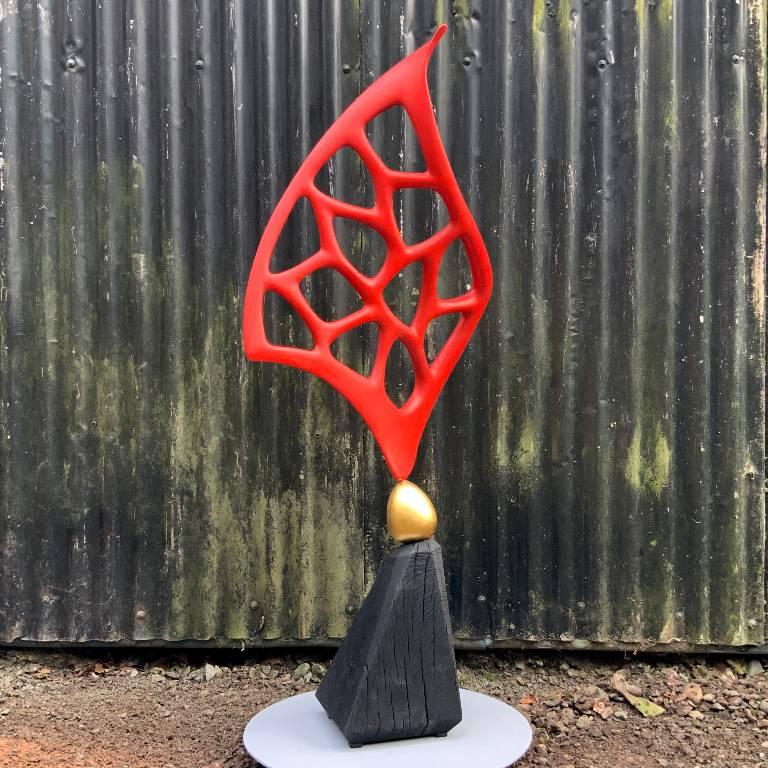 Abstract sculpture by Misti Leitz