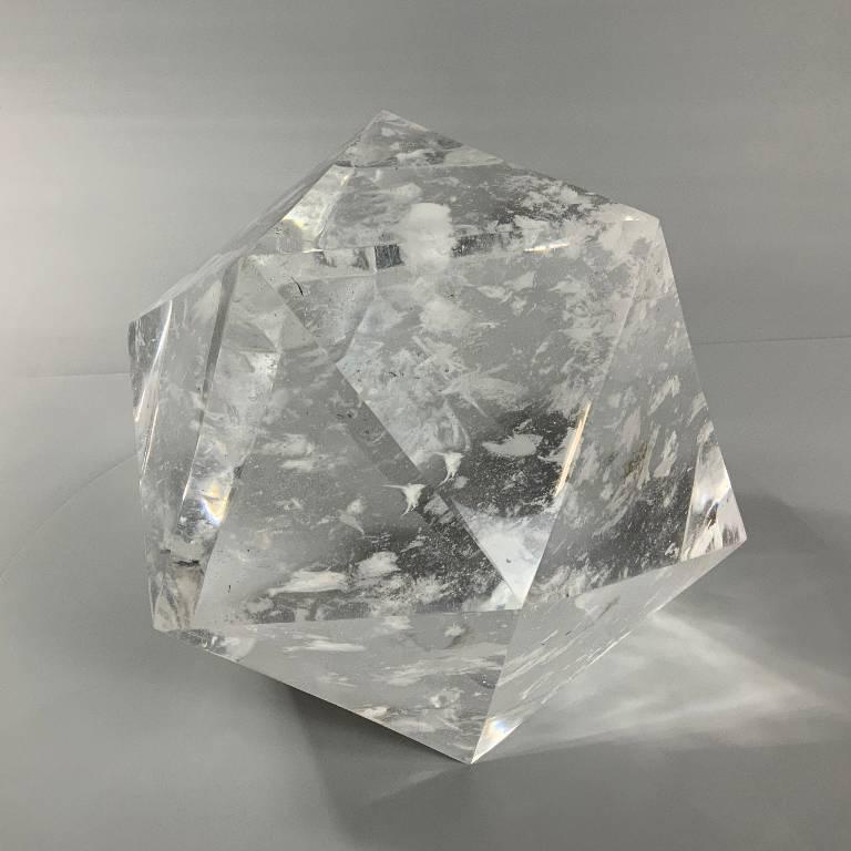 huge quartz crystal cut into a beautiful shape