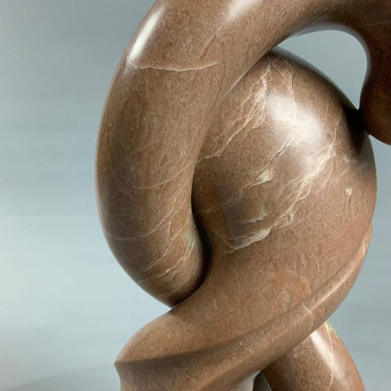 Detail of the exquisite form and perfect curves of the sculpture