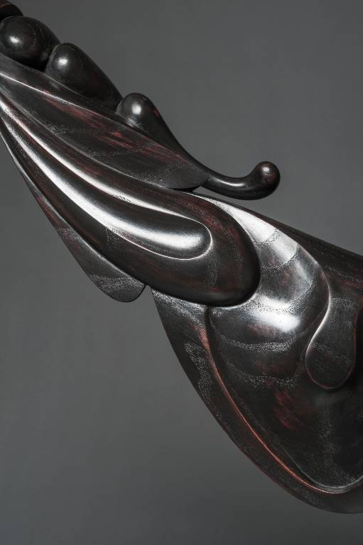 elegant and flowing lines are integral to this sculptural artwork