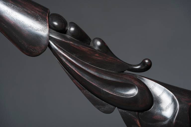 detail of the abstract modern sculpture