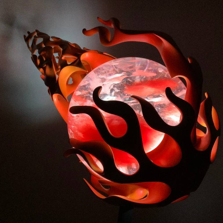 the firey comet sculpture in all its manificent glory