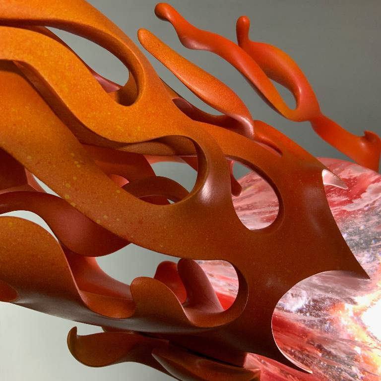 mind bending detail of the flames