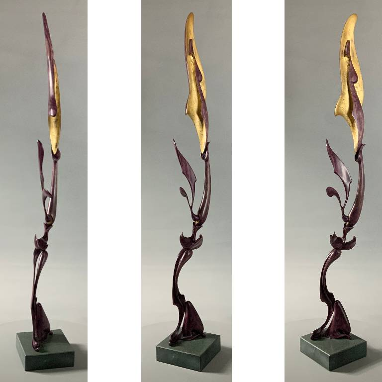 Sculpture by Misti Leitz in ash and gilt