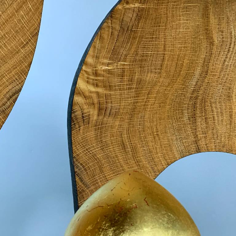 being carved from a single piece of oak brings an emmense beauty and character to the wood carving