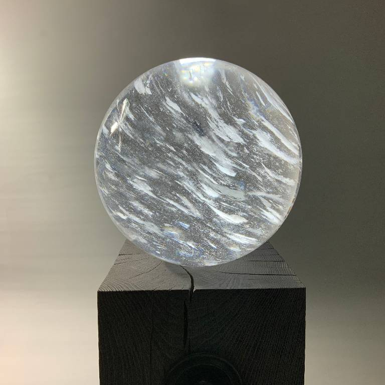 The quartz crystal sphere is truely magnificent and demands attention wherever it is situated
