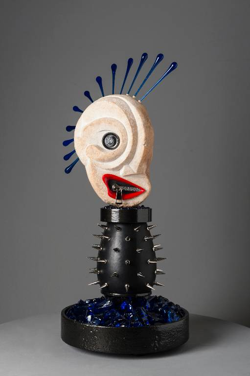 Punk Rock a mixed media contemporary sculpture by Misti Leitz