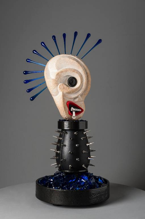 Punk rock sculpture combines African fetish dolls and the punk aestetic