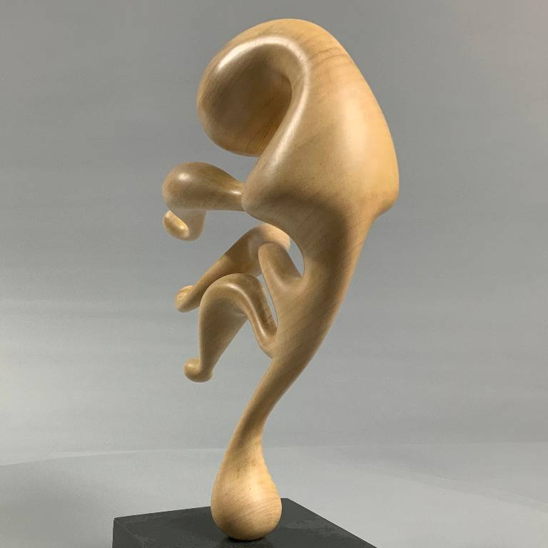 Lime wood contemporary sculpture by Misti Leitz