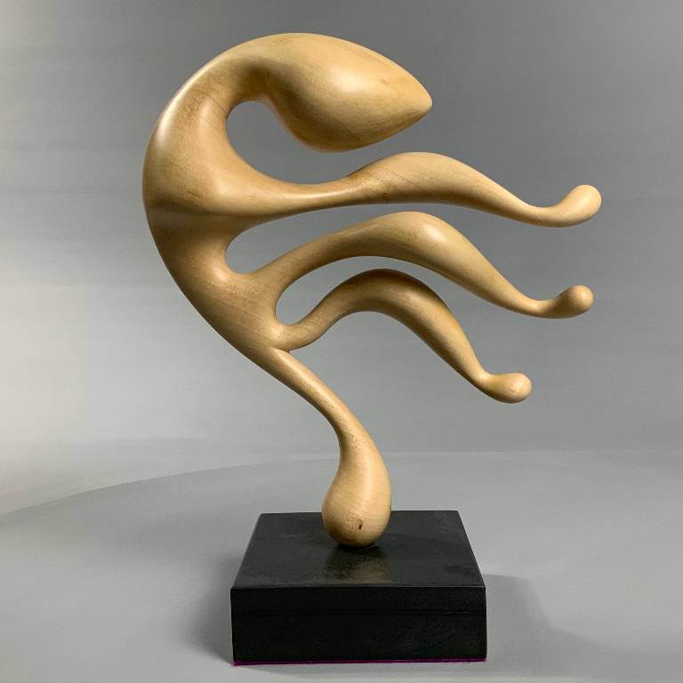 A modern sculpture in lime wood by Misti Leitz